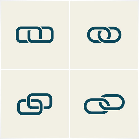 communication industry: link and chain icons. vector set. eps8