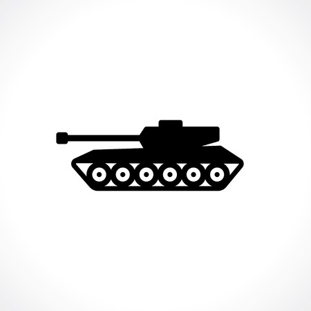 tank pictogram Stock Illustratie