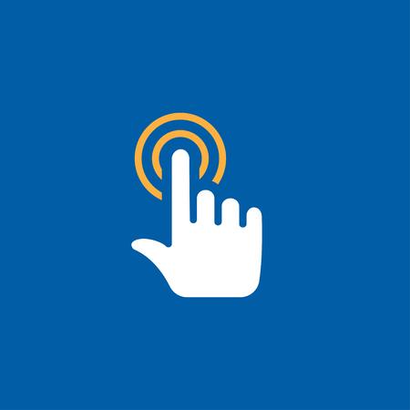 dedo indice: toque clic en el icono del vector