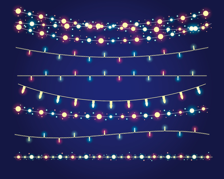 christmas backdrop: christmas lights festive decorations.