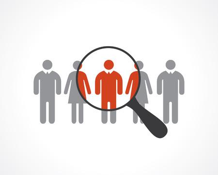 process: la contratación de personal Vectores