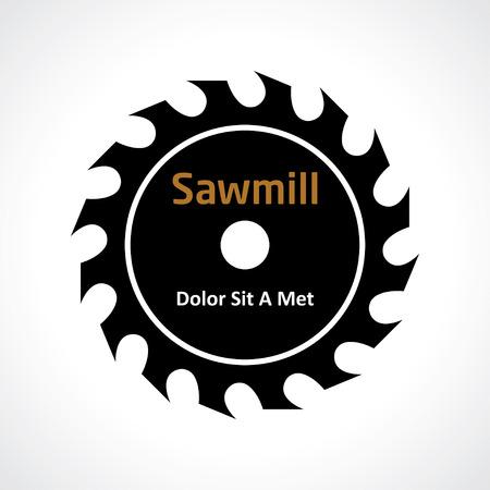 circular saw. sawmill icon