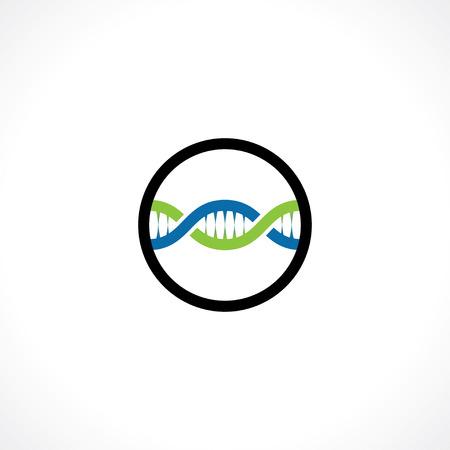 dna icon: dna icon. logo template