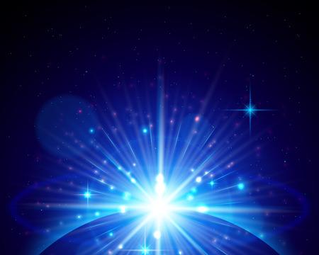 lucero: brillantes rayos de una estrella en ascenso