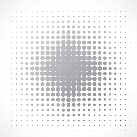 halftone effect of hexagons. abstract background