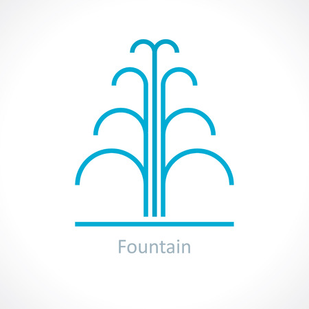 fountains: water fountain Illustration