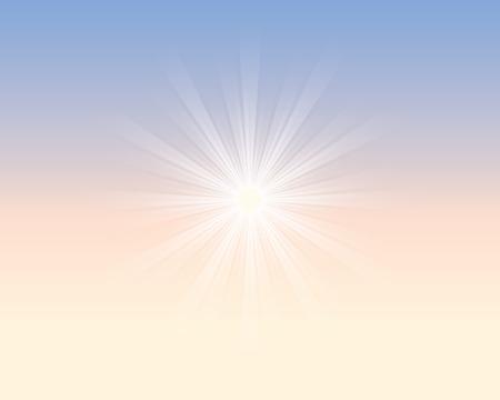 空に太陽の光