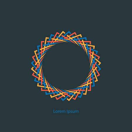 round: round color abstract monogram Illustration
