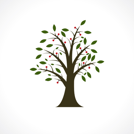 forestation: berry tree Illustration