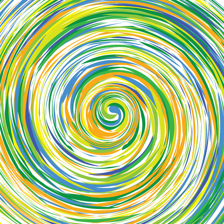 vortex: abstract painting in a color vortex Illustration