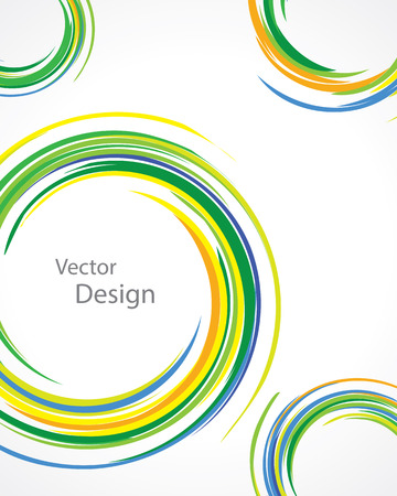 vortices: background with colorful rings of vortices on a white