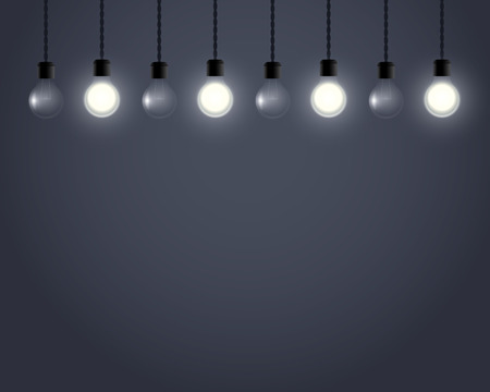 fluorescent lights: top hanging on wire lights bulb