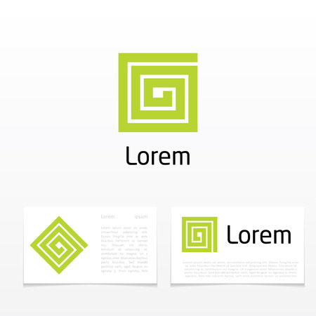 construction firm: abstract symbol of letter g. Illustration