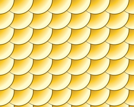 plating: golden scales seamless background Illustration