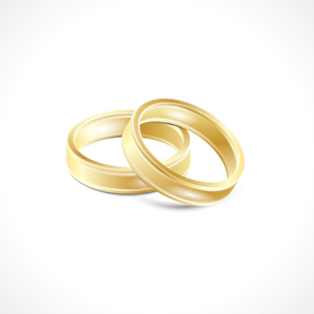 wedding: wedding rings. Illustration