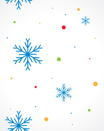 christmas background with snowflakes Иллюстрация