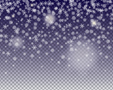 snowflakes fall. transparent background Иллюстрация