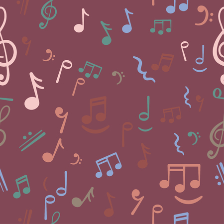 old notebook: music notes background