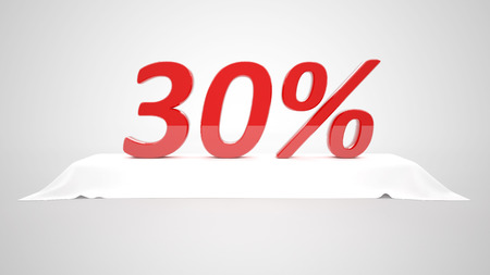 30 percent Stock Photo