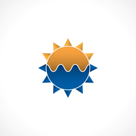 abstract logo of sun