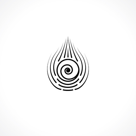 白い背景、ベクトル図の目の記号です。