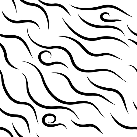 curl pattern vector illustration.