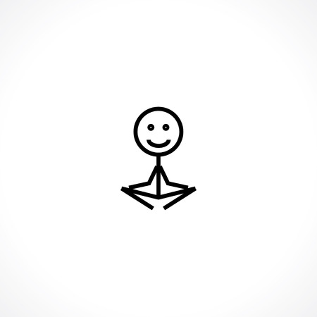Lotus position icon Çizim