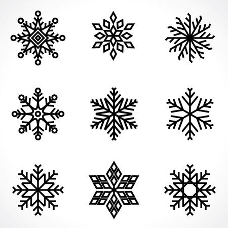snowflakes Vector illustration on white background.