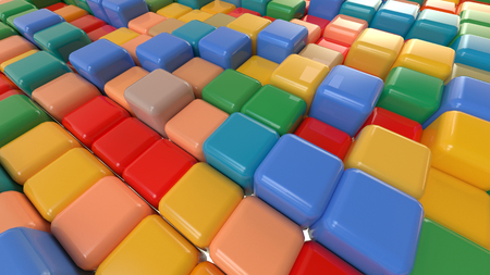 multicolored cubes