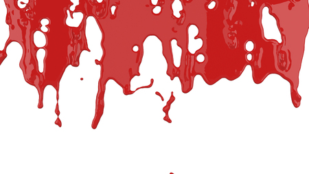 red paint flows down
