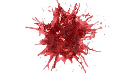 splash of reddish juice