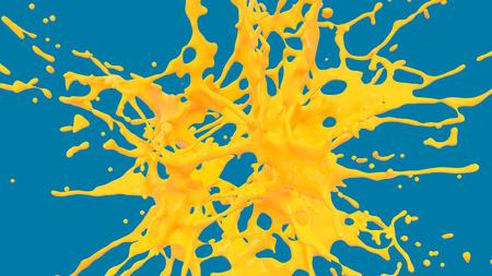 bursting of yellow paint Foto de archivo