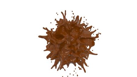 chocolate splash Фото со стока - 96554966