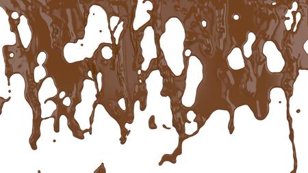 flowing molten chocolate