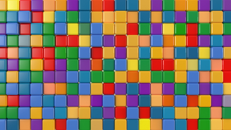 toy colored cubes Banque d'images