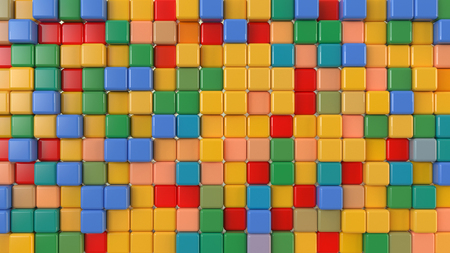 toy multicolored cubes