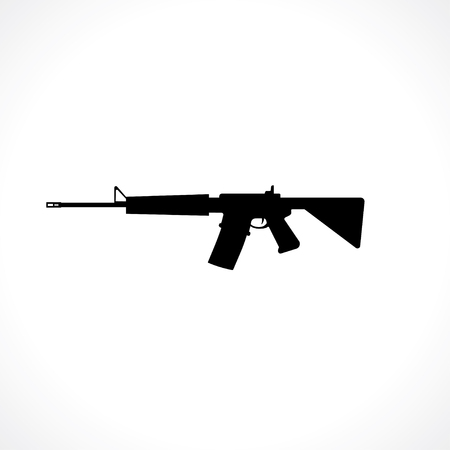 silhouette of semi-automatic rifle