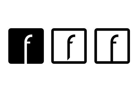 symbol of letter f Фото со стока - 111493522