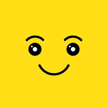 visage souriant heureux