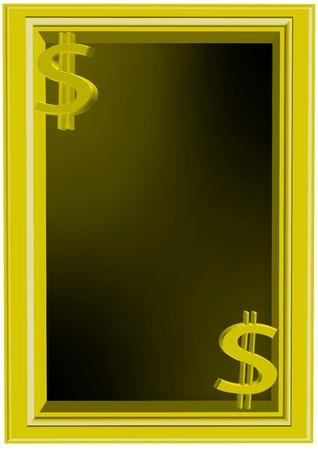 illustration of golden frame