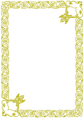golden decor frame