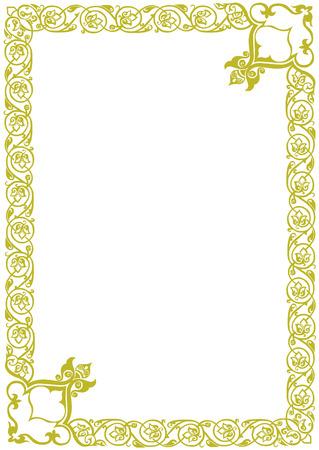 golden decor frame