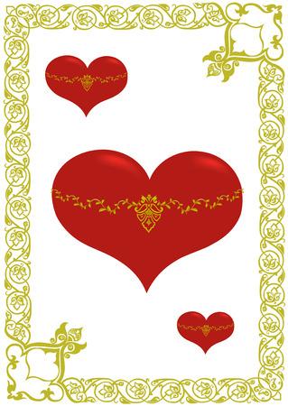 heart in frame Illustration
