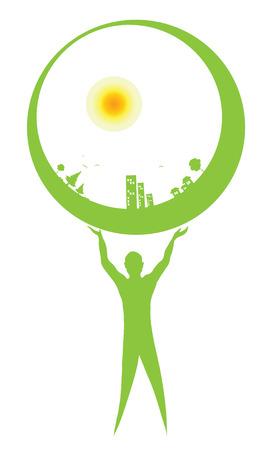 earth inside Illustration
