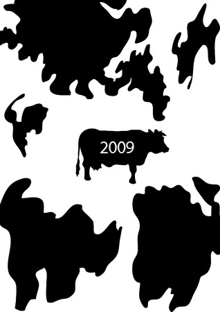 cow background Illustration