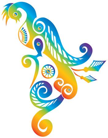 rainbow bird Illustration