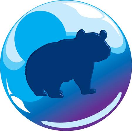 animal sphere icon Illustration