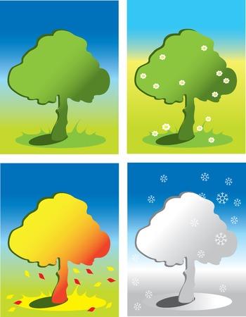 season icons Illustration