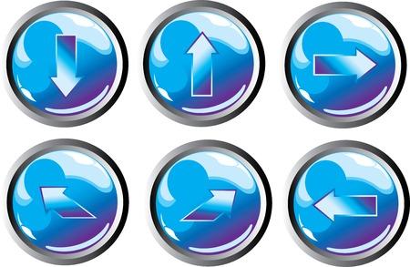 blue arrow buttons Illustration