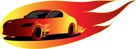 fire car Stock Vector - 4523900